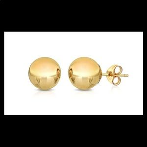Gold ball studs earrings